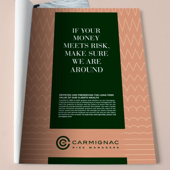 Proposition d'annonces presse pour Carmignac.