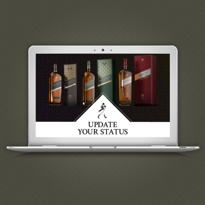 Proposition de newsletter pour Johnnie Walker.