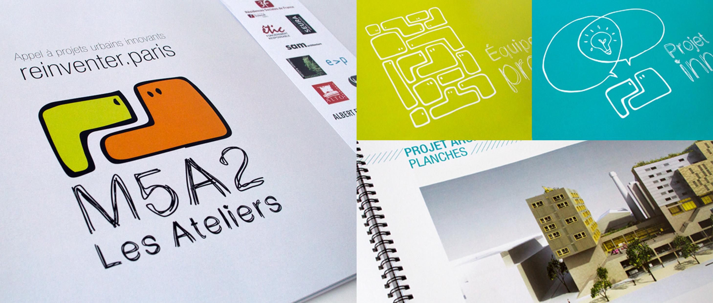 Création d'un logo et mise en page du book de présentation du projet d'architecture