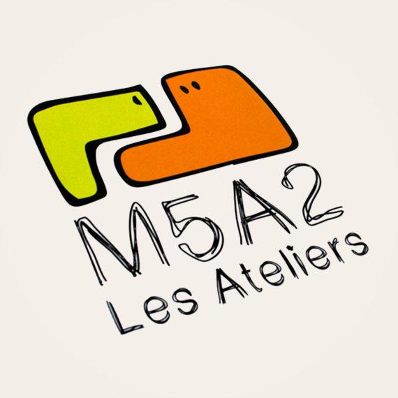 """Création d'un logo pour le projet d'architecture """"M5A2 Les Ateliers""""."""