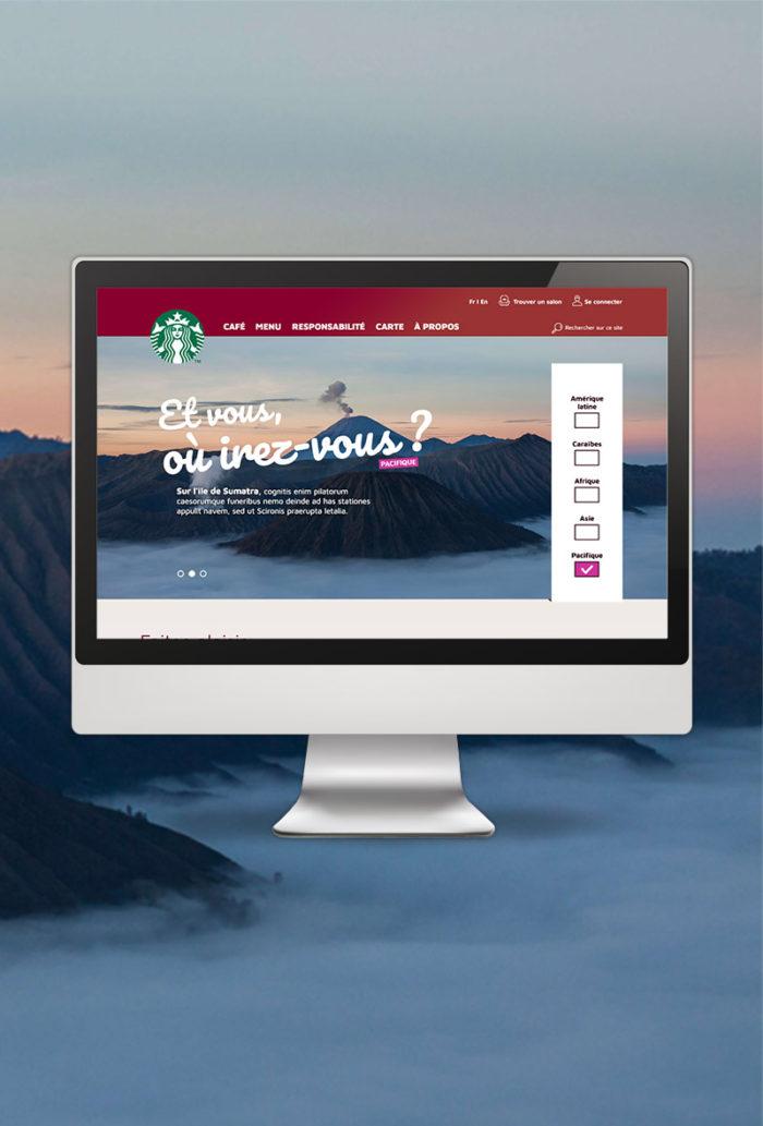 Proposition de refonte du site Starbucks.