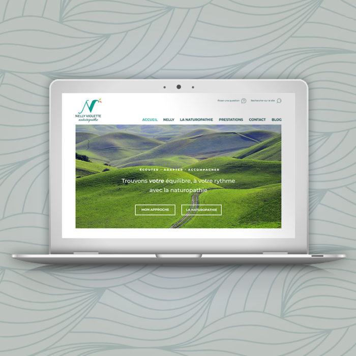 Création de logo, illustrations et site pour Nelly Violette, naturopathe à Paris.